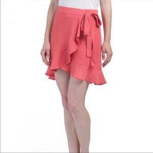 🔥1 hr SALE - Max Studio Petite Wrap Ruffle Skirt